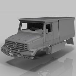 Download STL files RC Truck MB Zetros 1:12 Dakar , rctruckrallymodels
