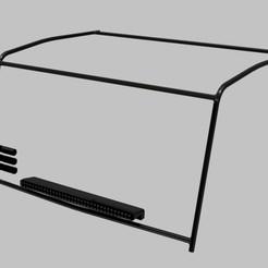 venkovni ram orazek.jpg Download free STL file RC TRUCK MAN 1:12 DAKAR - Frame for crew • 3D print object, rctruckrallymodels