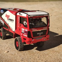 Download STL files RC Truck MAN 1:12 Dakar , rctruckrallymodels