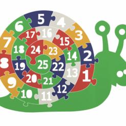 Télécharger fichier 3D gratuit Puzzle éducatif de l'escargot, CrazyScientist