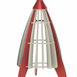 Project1.png Download STL file Moon Rocket Chandelier • 3D printer object, CrazyScientist