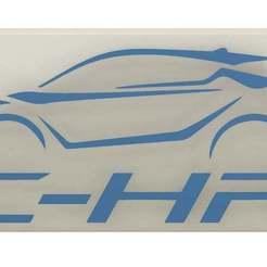 Download free 3D printing models Toyota C-HR keychain, CrazyScientist