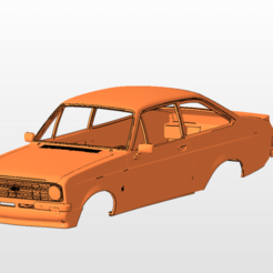 mk2 front.png Download STL file ford escort mk2 BODY SHELL FOR 1:10 RC CAR STL FOR 3D PRINTING • 3D printer model, 3dmodelcars