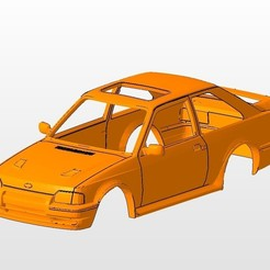 front.jpg Download STL file ford escort mk4 rs turbo series 2 BODY SHELL FOR 1:10 RC CAR STL FOR 3D PRINTING • 3D printing object, 3dmodelcars