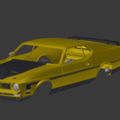 71 mustang.png Download STL file ford mustang 1971 body shell for 1:10 rc car stl for 3d printing • 3D print model, 3dmodelcars