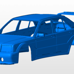 front.png Download STL file Mercedes 190e cosworth BODY SHELL FOR 1:10 RC CAR STL FOR 3D PRINTING • Model to 3D print, 3dmodelcars