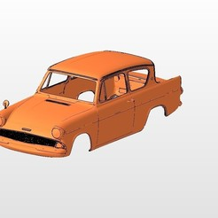 front.jpg Download STL file ford anglia BODY SHELL FOR 1:10 RC CAR STL FOR 3D PRINTING • 3D printing design, 3dmodelcars