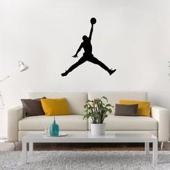 jordan.jpg Download STL file Michael Jordan Wall • 3D printer model, LCdesign