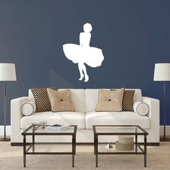 marilynm.jpg Descargar archivo STL Marilyn Monroe Pared Wall • Plan para la impresión en 3D, LCdesign