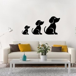Download 3D printer files Dog wall, LCdesign