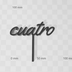 cuatroo.jpg Download STL file Topper Four • 3D printable object, LCdesign