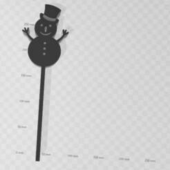 snowman.jpg Télécharger fichier STL Snowman Topper Snowman • Modèle pour impression 3D, LCdesign