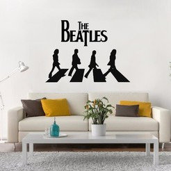 ABBEY ROAD.jpg Download STL file The Beatles Abbey Road Wall • Template to 3D print, LCdesign