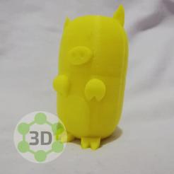 Download STL cute little pig, Imprimi3d