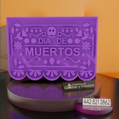 WhatsApp Image 2020-10-12 at 18.02.58.jpeg Download STL file Cortador para galleta papel picado día de muertos. • 3D printable template, alexxarriaga