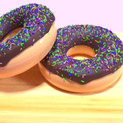 1.png Download 3DS file Chocolate Doughnut • 3D printing template, bishansagar
