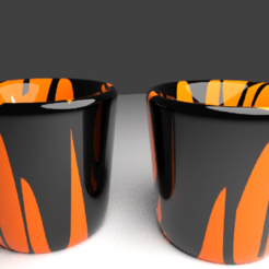 2 cups.png Download OBJ file ceramic Cup pair • 3D printing template, bishansagar