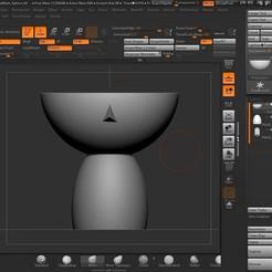 avance base.jpg Download STL file Nordic girl's head pot • 3D printable design, contactogalm3d