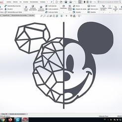 1.jpg Download STL file mickey mouse to decorate walls • 3D printer object, contactogalm3d