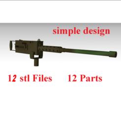 g 2 - Copy.png Download STL file simple mounted machine gun • 3D print design, FutureDesigns