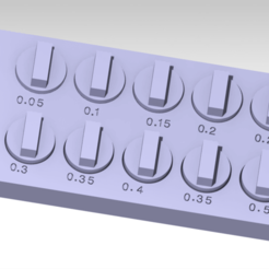 t1.png Download free STL file clearance and tolerance tester • Design to 3D print, FutureDesigns