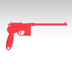 6.png Download STL file key ring world war pistol • 3D printable object, FutureDesigns