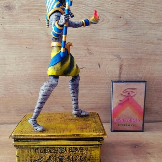 Download STL file IRON MAIDEN - POWERSLAVE FIGURINE • 3D printing template, angelwings2306