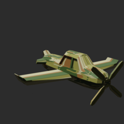 untitled1.png Download STL file low poly plane • 3D printing model, sherzodjon_sjf