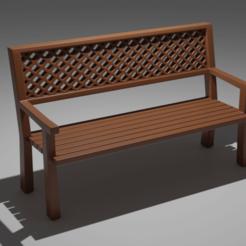 Download 3D print files wooden bench, sherzodjon_sjf