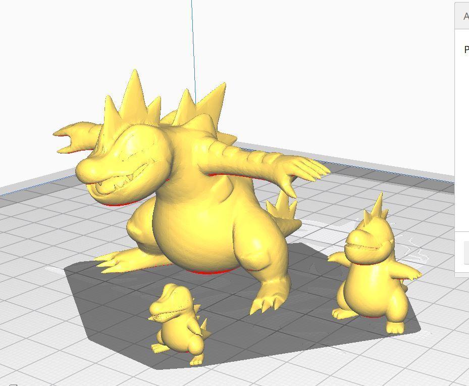 ferali.JPG Download free STL file Totodile, croconaw and feraligatr • 3D print model, angel2jz
