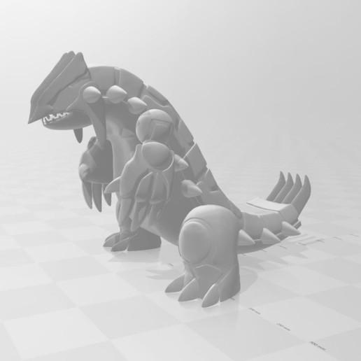 growdon2.JPG Download free STL file Groudon pokemon • 3D printing design, angel2jz