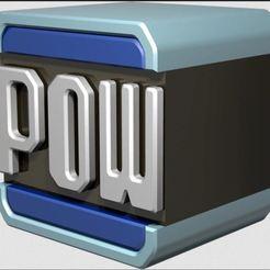 pow.JPG Download free STL file POW block mario kart • 3D print object, angel2jz