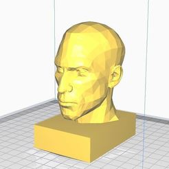 HTR.JPG Download free STL file SIMPLE HUMAN HEAD • 3D printable template, angel2jz