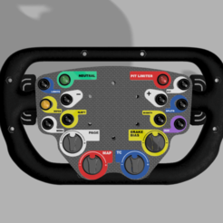 Front.png Download STL file Bentley GT3 DIY Steering Wheel • 3D printer model, Hupske