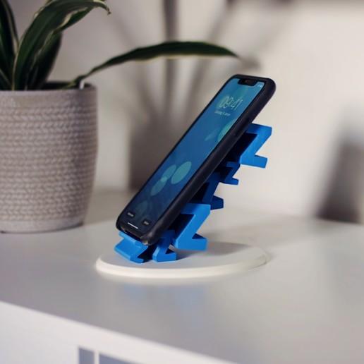 4.JPG Download free STL file Sleepy Phone Stand • 3D printing model, NKpolymers