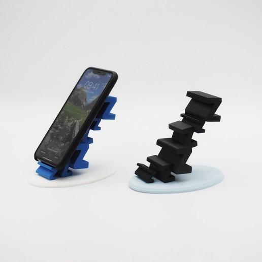 5.jpg Download free STL file Sleepy Phone Stand • 3D printing model, NKpolymers