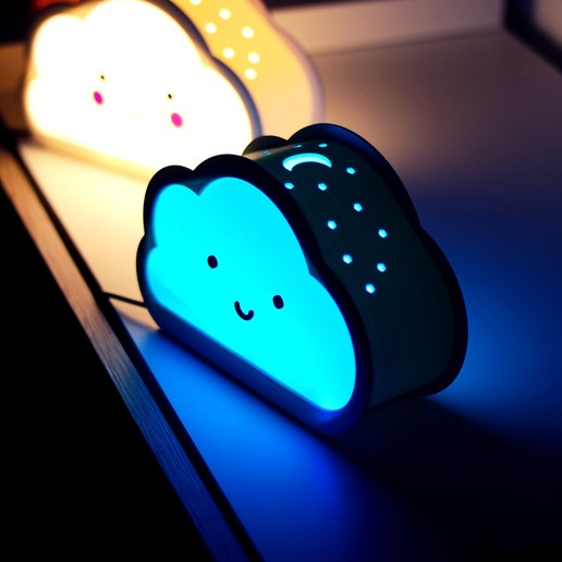 6.jpg Download free STL file Happy Cloud Lamps - With Casting Shadow Effect • 3D printable model, NKpolymers
