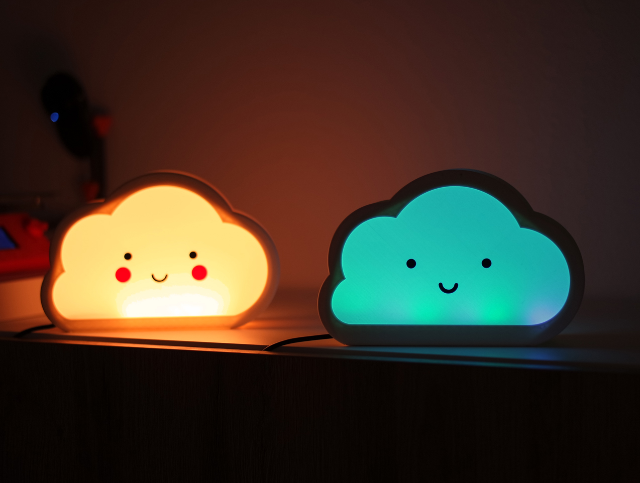 4.jpg Download free STL file Happy Cloud Lamps - With Casting Shadow Effect • 3D printable model, NKpolymers