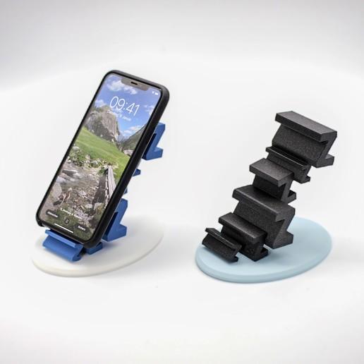 0.JPG Download free STL file Sleepy Phone Stand • 3D printing model, NKpolymers
