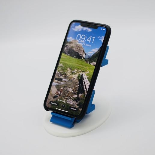 6.JPG Download free STL file Sleepy Phone Stand • 3D printing model, NKpolymers