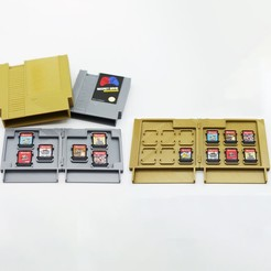 Download 3D printing files Retro Cartridge Game Holders for Nintendo Switch - NES Style, NKpolymers