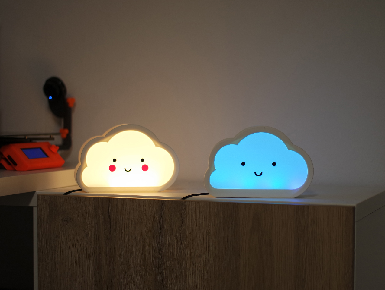 5.jpg Download free STL file Happy Cloud Lamps - With Casting Shadow Effect • 3D printable model, NKpolymers