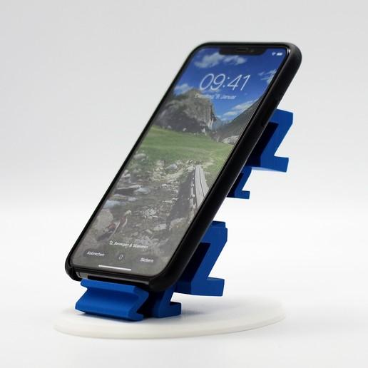 2.jpg Download free STL file Sleepy Phone Stand • 3D printing model, NKpolymers