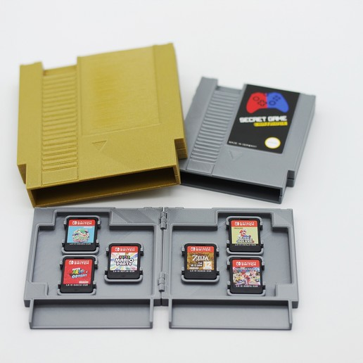 r2.jpg Download STL file Retro Cartridge Game Holders for Nintendo Switch - NES Style • 3D printer object, NKpolymers