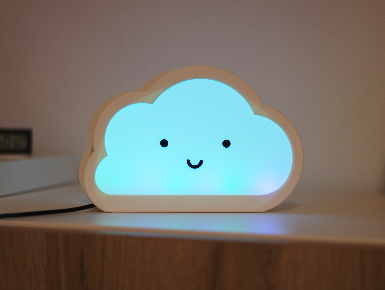 2.jpg Download free STL file Happy Cloud Lamps - With Casting Shadow Effect • 3D printable model, NKpolymers