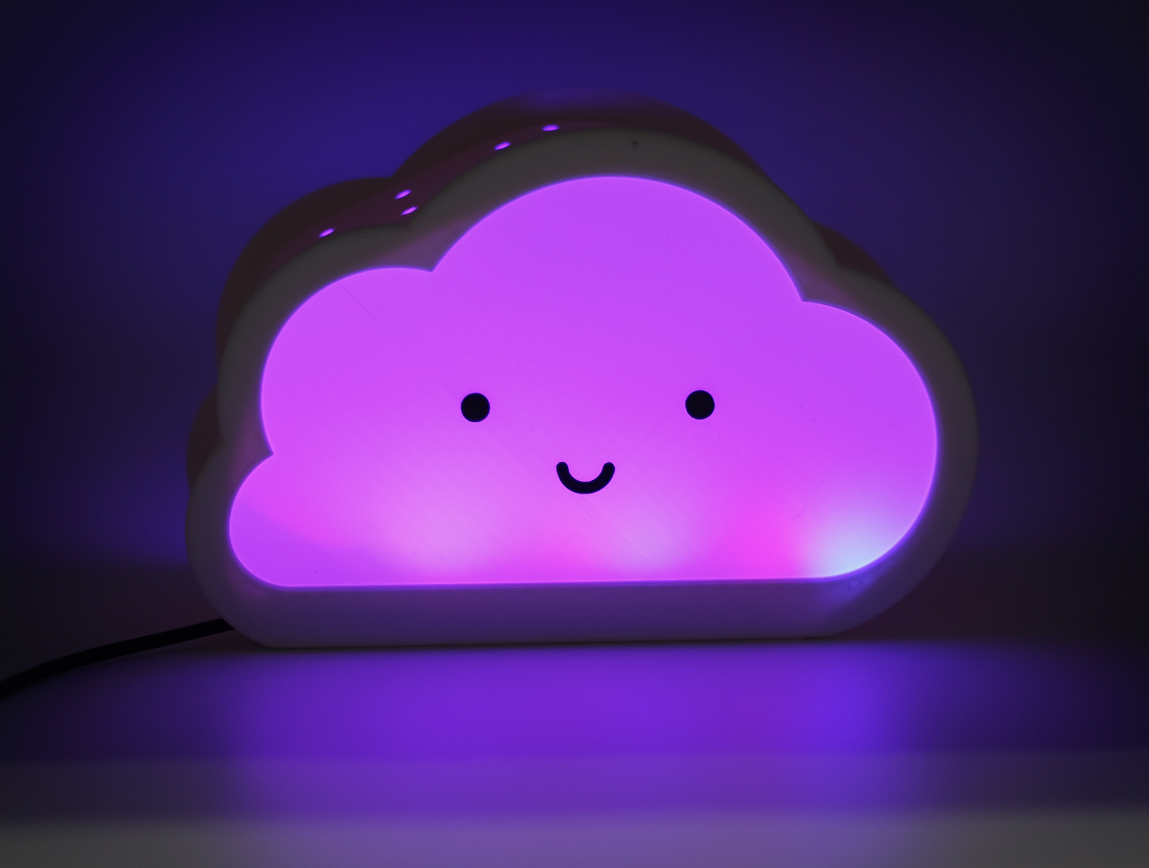 9.jpg Download free STL file Happy Cloud Lamps - With Casting Shadow Effect • 3D printable model, NKpolymers