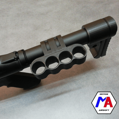 37.png Download STL file support tube cartridge holder M4 shotgun gholden eagle airsoft • Model to 3D print, Motion-airsoft