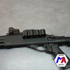 2.png Download STL file airsoft golden eagle shotgun cartridge holder • 3D printer design, Motion-airsoft