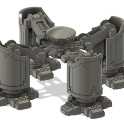 Download free 3D printer model Dreadful Walking Sarcophagus Quadraped Legs, explosiverunes