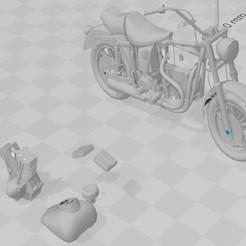 Download 3D printing models Motorcycle type HARLEY, martin_dupu